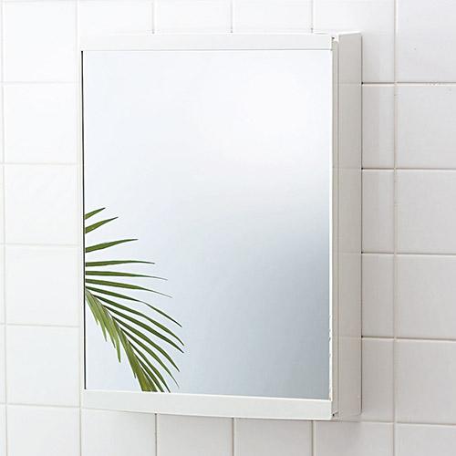 東プレ ミラーキャビネット T-3246 キャビネット 鏡 ミラー 洗面所 浴室 サニタリー 整理棚 ラック 収納 機能 便利 458×320×105mm トープラ トープレ TOPRE