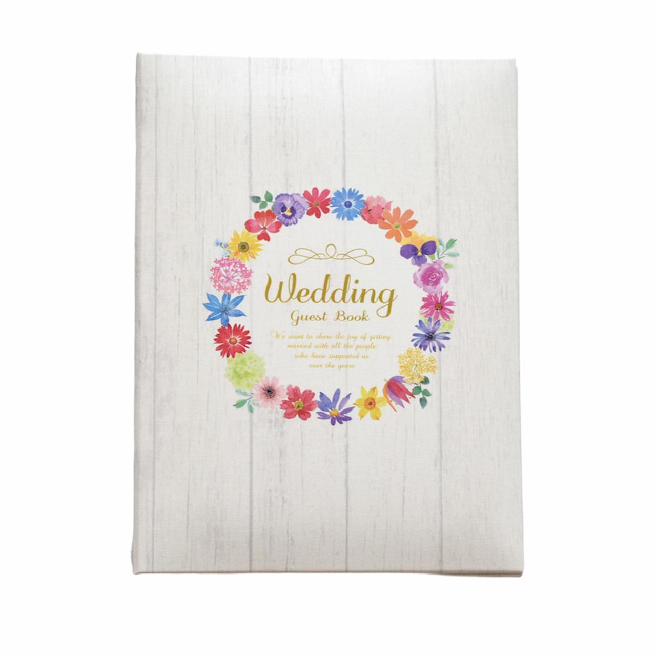 結婚式 ウェディングアイテムが充実 Ti 全品最安値に挑戦 商舗 Amo ゲストブック ウェディング マリアージュリース 芳名帳 カード式
