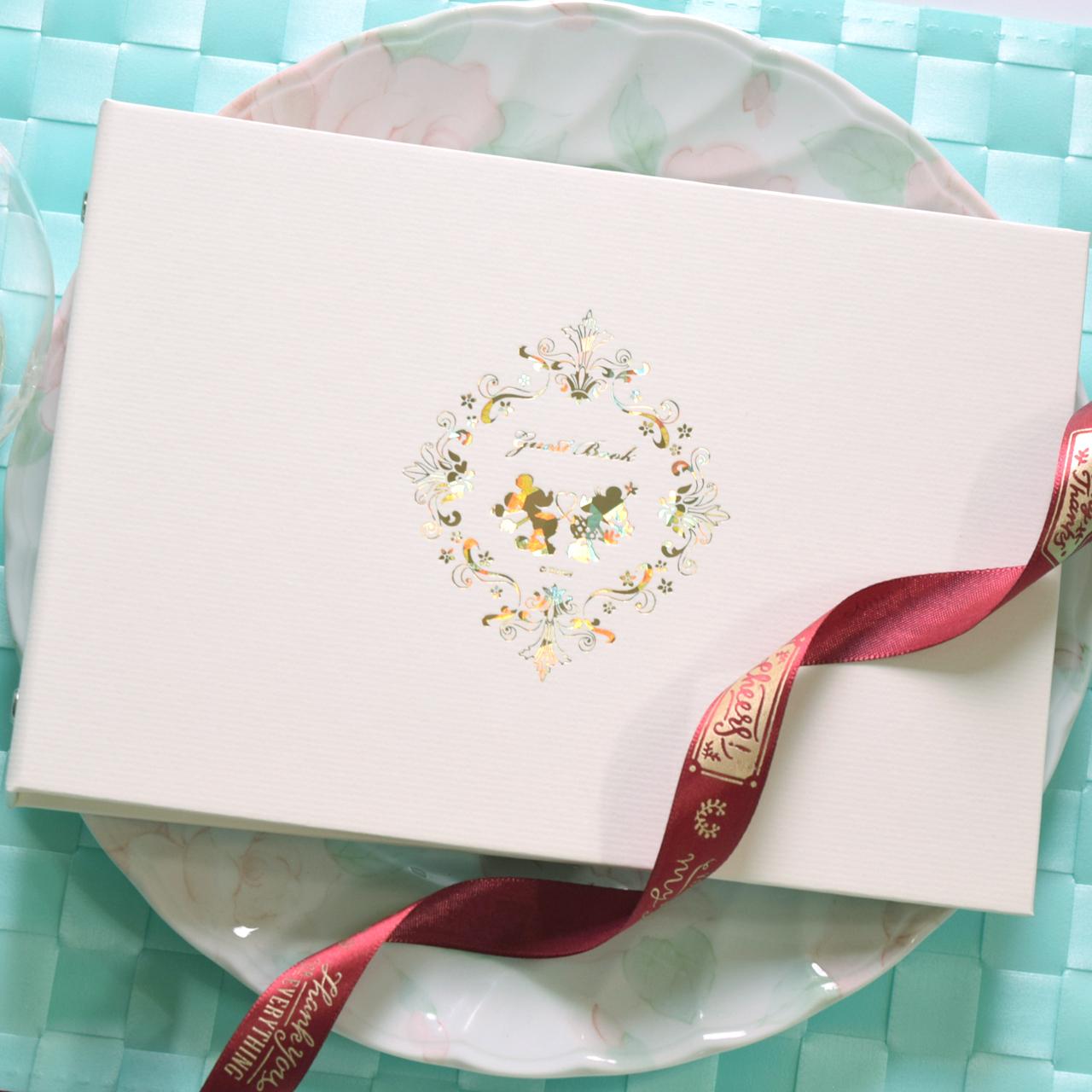 結婚式 ウェディングアイテムが充実 2020新作 Ti Amo ゲストブック 記帳式 アウトレット☆送料無料 ミニー ウェディング 芳名帳 ミッキー
