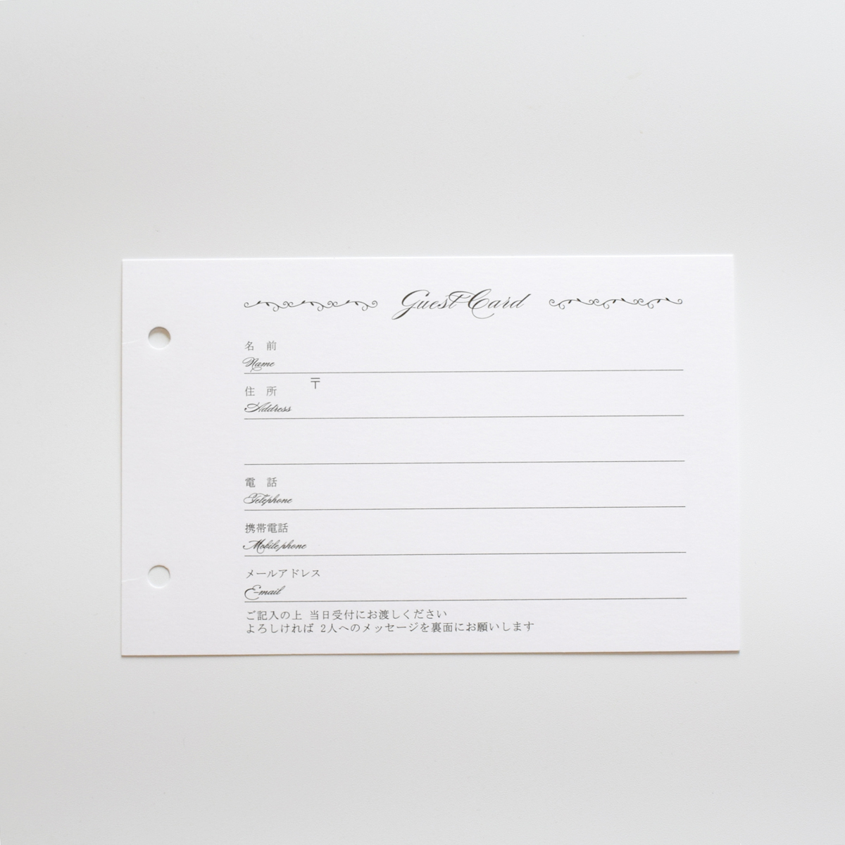 結婚式 ウェディングアイテムが充実 直営ストア Ti Amo 洋風ゲストカード追加分 穴有り 35名様分 ゲストブック 35枚入 芳名帳 ウェディング 全店販売中 カード式