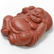 贈答 ランキングTOP10 紫砂でできた弥勒菩薩の化身とされる布袋さまの茶寵 宜興紫砂 布袋弥勒佛