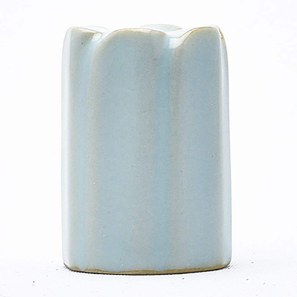 古代の汝窯をイメージ 海外輸入 グレーがかった青の蓋置きです 安全 汝窯蓋置
