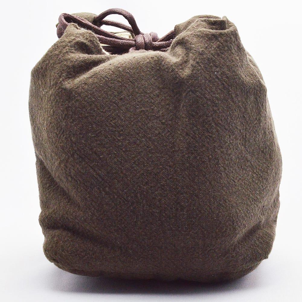 茶器の持ち運びや保管に便利な布袋です ファッション通販 茶壺1杯4が入ります 茶具布袋 焦茶 商い 壺1杯4