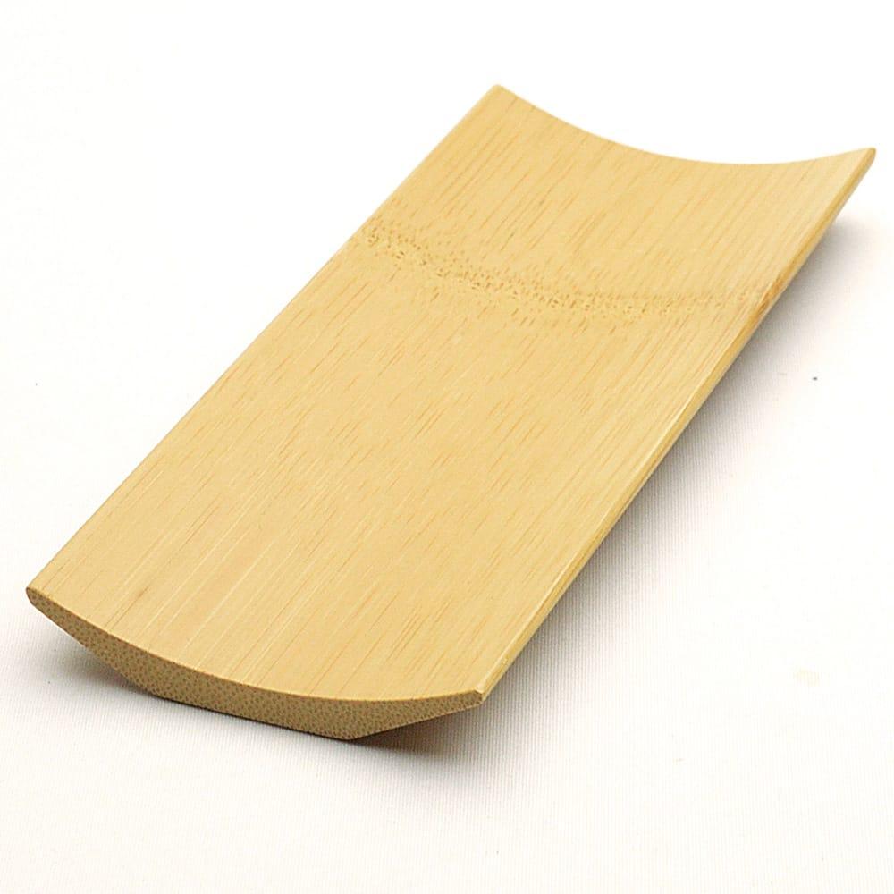茶巾を置くのに使う茶巾托 こちらは竹のもとの色です 竹茶巾托 おトク 本色 長185×短75×高13mm 安値
