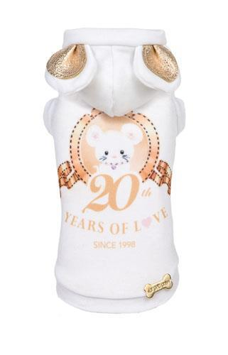 For Pets Only (フォーペッツオンリー) ANNIVERSARY T-SHIRT JERSEY (PE2019-P11)【小型犬 犬服 ウエア トップス Tシャツ パーカ セレブ /送料無料】