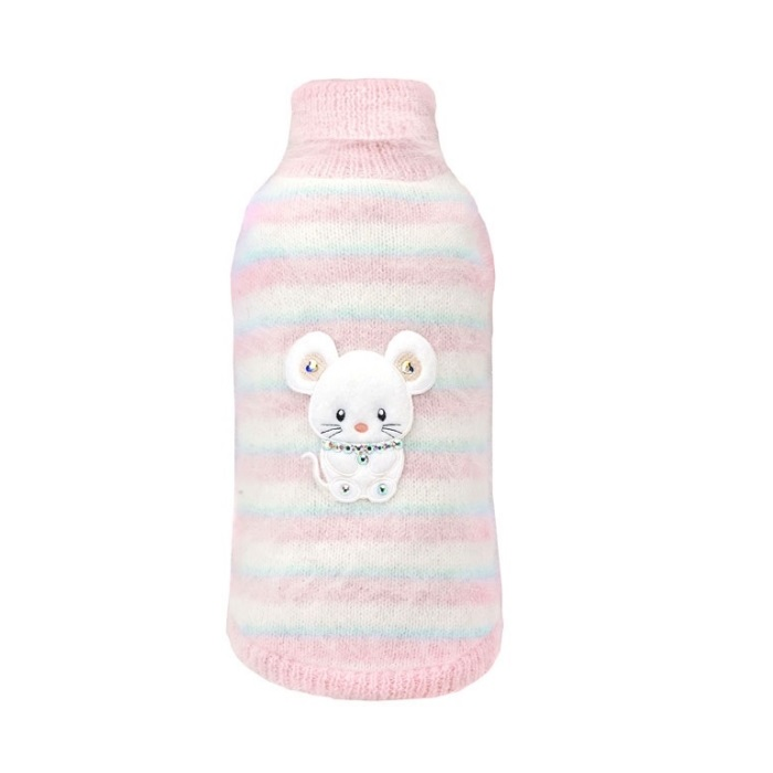 Love is Fall Winter Collection 2020-2021 フォーペッツオンリー for pets only TOPOMIO NUVOLA ANGORA セーター ウエア 祝日 犬服 ランキングTOP10 M AI2020-P11 ニット PULL PINK 小型犬 セレブ トップス