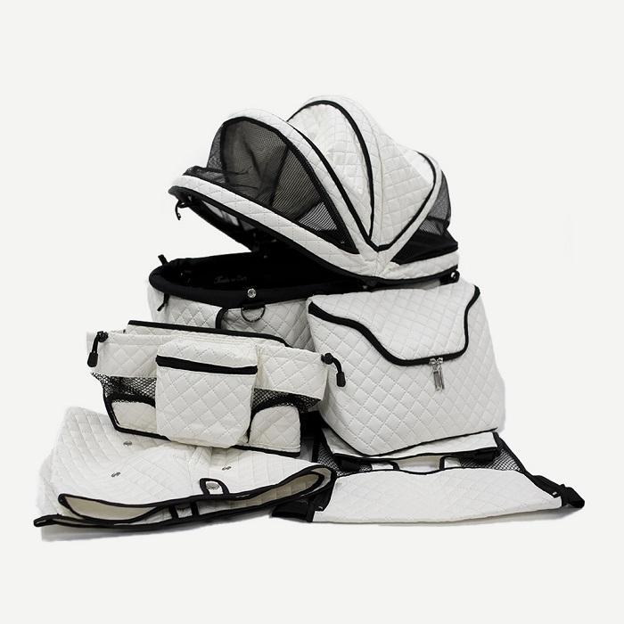 天使のカート シャンアンジェ PORTE QUILT MAT WHITE ポルテ キルト・マットホワイト (限定特別オプション)(バッグのみ) M【小型犬 キャリーバッグ キャリーカート ペットカート ペットバギー 犬用品】