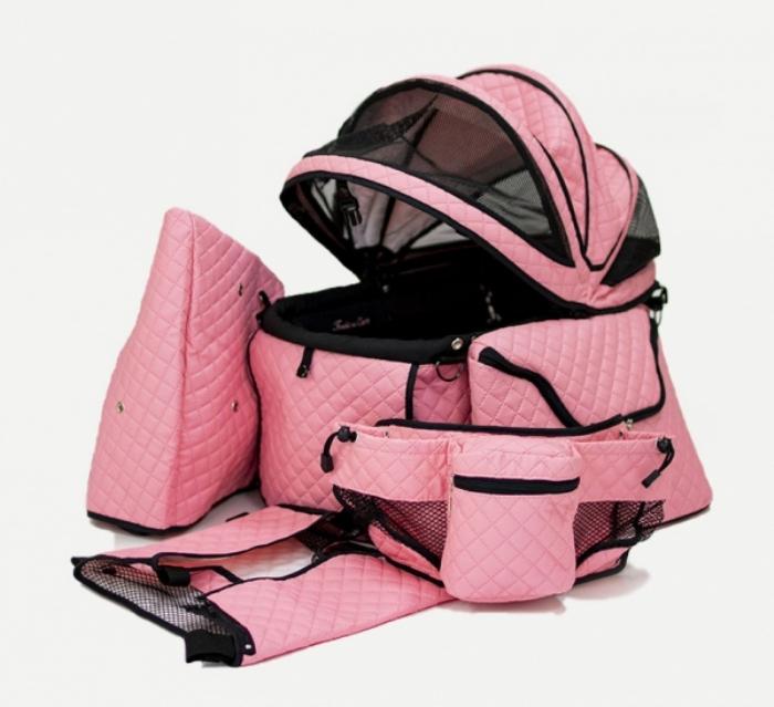 ※こちらの商品はバッグのみです カート本体は含まれておりません 天使のカート ポルテ キルト マット ピンク PORTE ショップ QUILT MAT PINK ペット SET 送料無料 キャリーバッグ バッグのみ L 犬用品 1年保証 FULL ペットバギー ペットカート