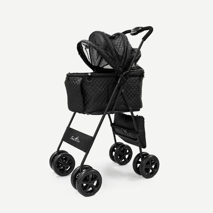 天使のカート ポルテ キルト マットブラック PORTE QUILT MAT BLACK FULL SET (M) Ver.4 フレーム【犬用品 キャリーカート ペットカート ペットバギー】