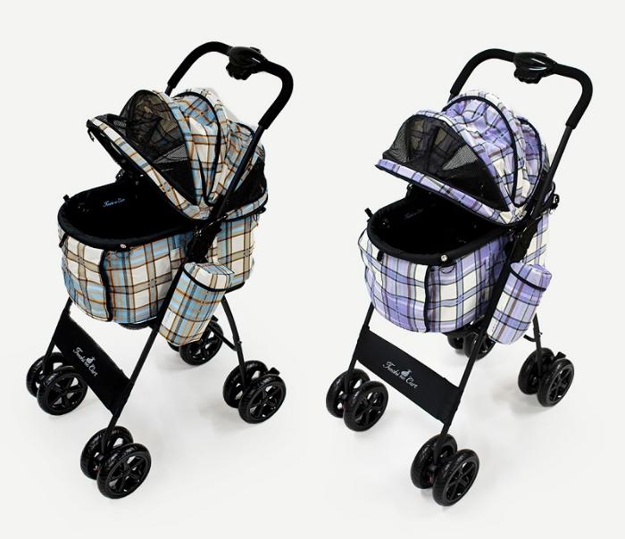 天使のカート ポルテ タータンチェック PORTE TARTAN CHECK (M) Ver.4 フレーム【犬用品 キャリーカート ペットカート ペットバギー】