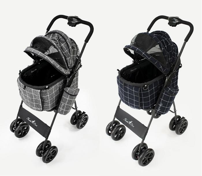 天使のカート ポルテ ツイードチェック PORTE TWEED CHECK (L) Ver.4 フレーム【犬用品 キャリーカート ペットカート ペットバギー】