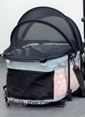 マザーカート ×グラマーイズム Glamourism  ラプレL Annabelle(アナベラ) ピンク 上段【小型犬 キャリーバッグ/ キャリーカート/ ペットカート/ ペットバギー/犬用品】