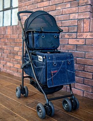Mother Cart(マザーカート)×Glamourism(グラマーイズム) アジリティー SAKURA 上下段【小型犬 キャリーバッグ/ キャリーカート/ ペットカート/ ペットバギー/犬用品/ 送料無料】