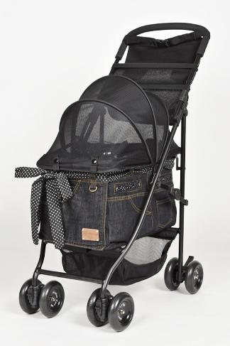 【10%OFF】マザーカート Mother Cart アジリティー ブラックデニム ゴールドステッチ【小型犬 キャリーバッグ/ キャリーカート/ ペットカート/ ペットバギー/犬用品】