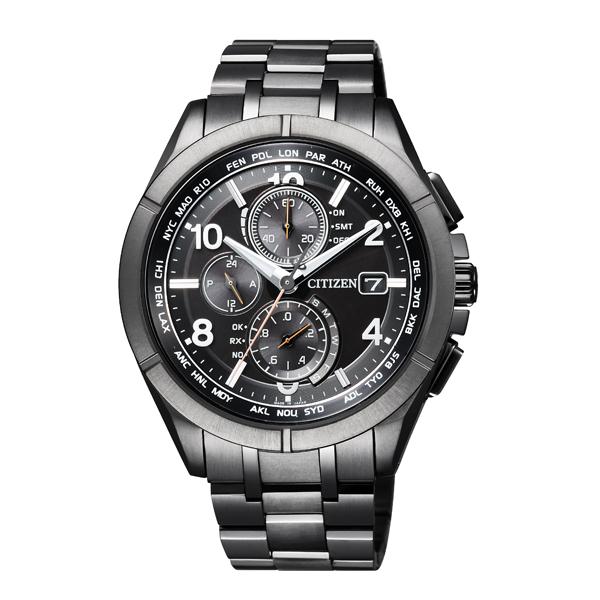 CITIZEN シチズン ATTESA アテッサ エコ・ドライブ ダイレクトフライト Black Titanium  【国内正規品】 腕時計 メンズ AT8166-59E 【送料無料】