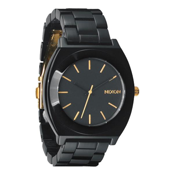 NIXON ニクソン Time Teller Acetate タイムテラー アセテート All Black/Gold 腕時計 【国内正規品】 A3271031 【送料無料】