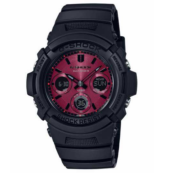 G-SHOCK カシオ Gショック SPECIAL COLOR Black and Red Series 腕時計 メンズ AWG-M100SAR-1AJF