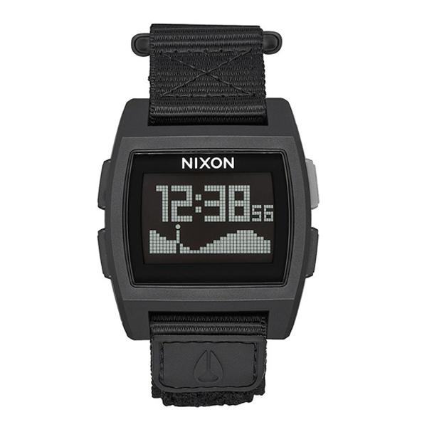 NIXON ニクソン BASE TIDE NYLON ベースタイドナイロン ALL BLACK 【国内正規品】 腕時計 NA1169001 【送料無料】