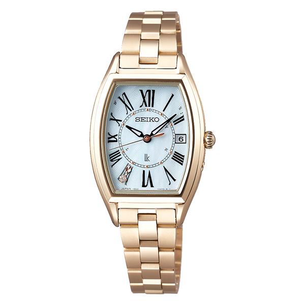 SEIKO LUKIA  セイコー ルキア トノー  電波ソーラー  レディーゴールド  腕時計 レディス  SSQW046