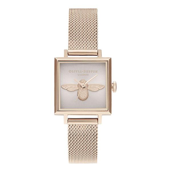 OLIVIA BURTON オリビアバートン 3D ビー スクエアダイヤル 腕時計 レディース OB16AM164 【送料無料】