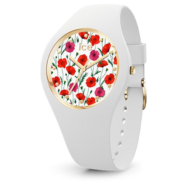 ICE WATCH アイスウォッチ ICE flower アイスフラワー ホワイトポピー スモール 腕時計 ICE-016657 【送料無料】