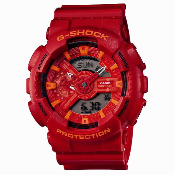 G-SHOCK ジーショック CASIO カシオ Blue & Red Series ブルー&レッドシリーズ 【国内正規品】 腕時計 GA-110AC-4AJF 【送料無料】