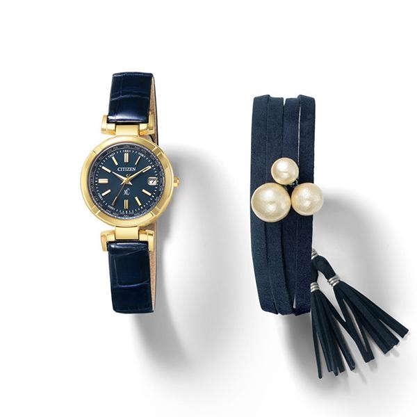 CITIZEN xC クロスシー 腕時計 レディス エコドライブ 電波 ティタニア ライン ハッピーフライト プティローブノアーコラボ CB1102-01F