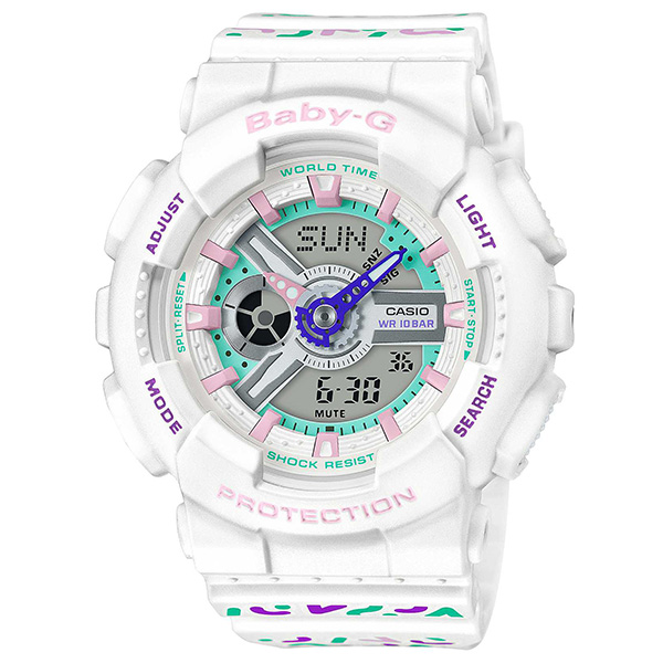 BABY-G カシオ ベイビージー 腕時計 レディス アナデジ  Geometric Pattern ジオメトリック・パターン BA-110TH-7AJF