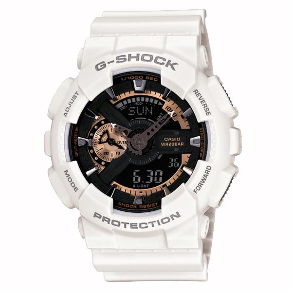 G-SHOCK ジーショック CASIO カシオ Rose Gold ローズゴールド 【国内正規品】 腕時計 メンズ ホワイト/ローズゴールド GA-110RG-7AJF 【送料無料】