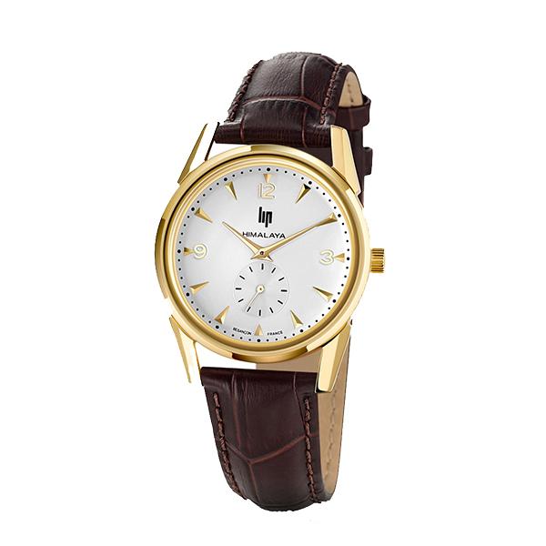 LIP リップ 腕時計 ヒマラヤ 35mm ゴールド×ブラウン レザー LP671042
