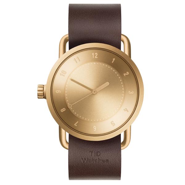 TID Watches ティッド ウォッチ No.1 GOLD + Leather Wristband 40mm 【国内正規品】 腕時計 TID01-G/W 【送料無料】