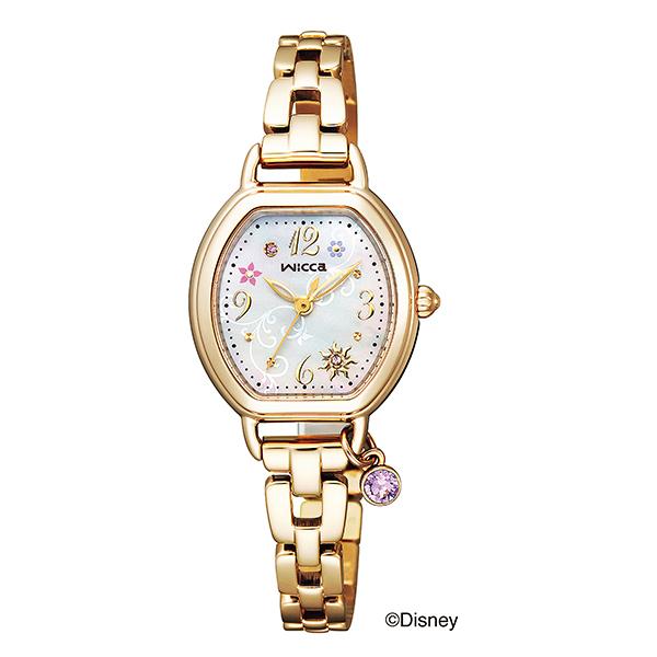 CITIZEN wicca ウィッカ ディズニーアニメーション 『搭の上のラプンツェル』 限定 ソーラーテック 腕時計 レディス Disneyコレクション KP2-523-91