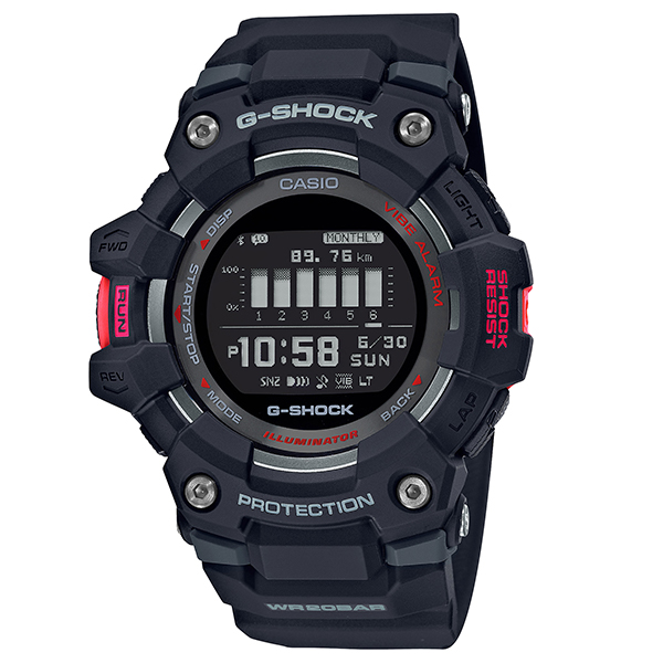 G-SHOCK ジーショック CASIO カシオ G-SQUAD ランニング スマートフォンリンク 腕時計 メンズ GBD-100-1JF