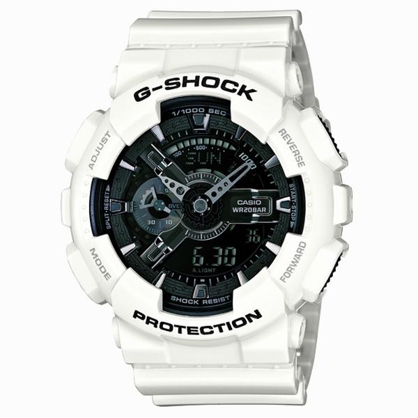 G-SHOCK ジーショック CASIO カシオ White and Black Series ホワイト&ブラックシリーズ 【国内正規品】 腕時計 GA-110GW-7AJF 【送料無料】