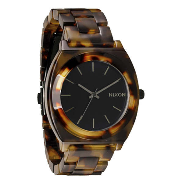 NIXON ニクソン Time Teller Acetate タイムテラー アセテート Tortoise トートイズ 腕時計 【国内正規品】 NA327646 【送料無料】