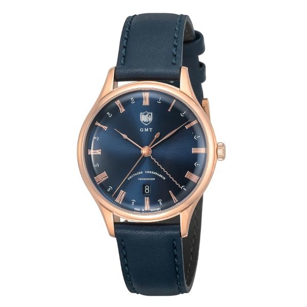 DUFA ドゥッファ Weimar GMT ネイビー×ゴールド 【国内正規品】 腕時計 DF-9006-0A 【送料無料】