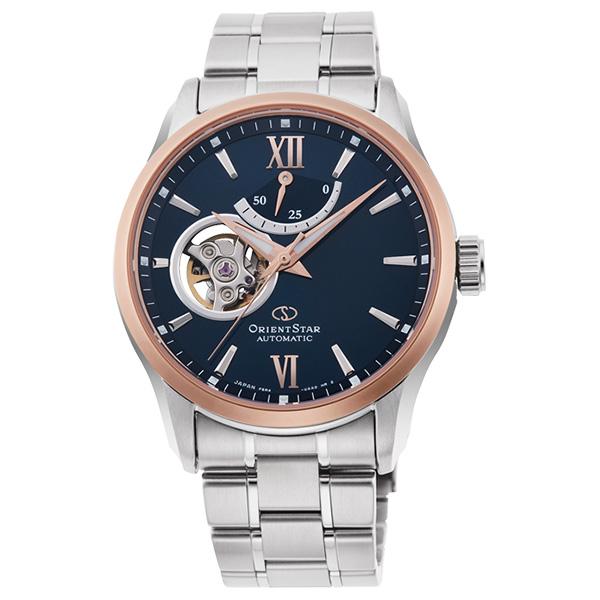 オリエントスター ORIENT STAR Moving Blue シーズン限定 腕時計 メンズ 機械式自動巻 コンテンポラリー セミスケルトン RK-AT0008L