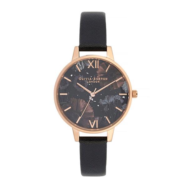 OLIVIA BURTON オリビアバートン セレスチュアル -ブラック & ローズゴールド 腕時計 レディース OB16GD22 【送料無料】