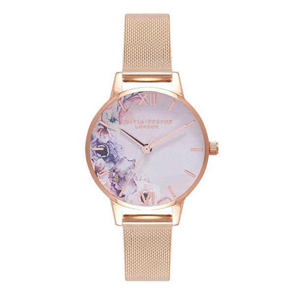 OLIVIA BURTON オリビアバートン ウォーターカラー フローラル メッシュ 腕時計 OB16PP39 【送料無料】