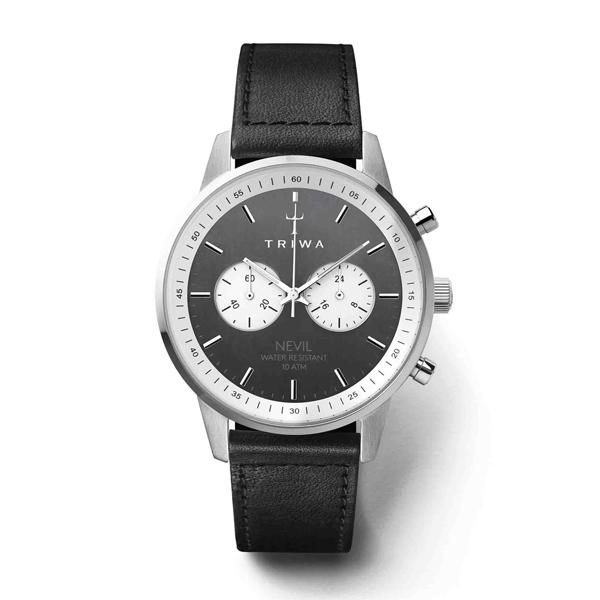 TRIWA トリワ SLATE NEVIL スチール ネヴィル BLACK SEWN CLASSIC 【国内正規品】 腕時計 NEST118-SC010112 【送料無料】