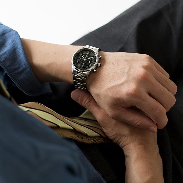 ムーブメント イン モーション Movement In Motion シンプルクロノ SIMPLE CHRONO 腕時計 メンズ チックタックオリジナル MIM-SIC03-SS/BK
