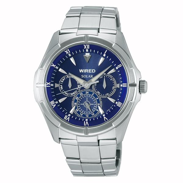 WIRED ワイアード SEIKO セイコー NEW STANDARD ニュースタンダード ソーラー 腕時計 メンズ ブルー AGAD033 【送料無料】