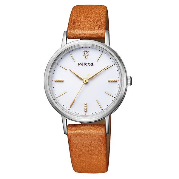 wicca ウィッカ CITIZEN シチズン ときめくダイヤ ソーラーテック 腕時計 レディース KP5-115-10 【送料無料】