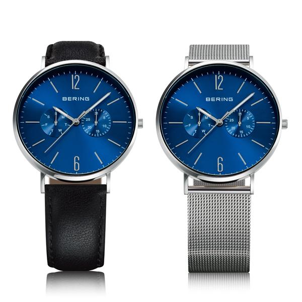 BERING ベーリング Changes Leather & Mesh  TiCTAC別注モデル 替えベルト付き 腕時計 14240-407