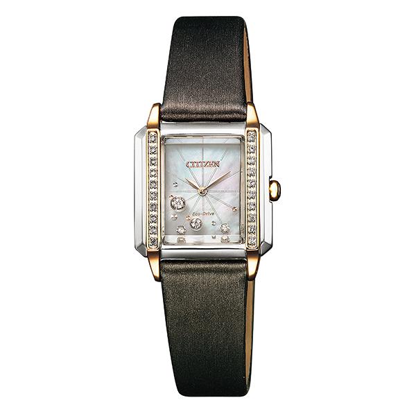 CITIZEN L シチズン エル 腕時計 レディス エコドライブ ダイヤモンド スクエアケース EG7068-16D