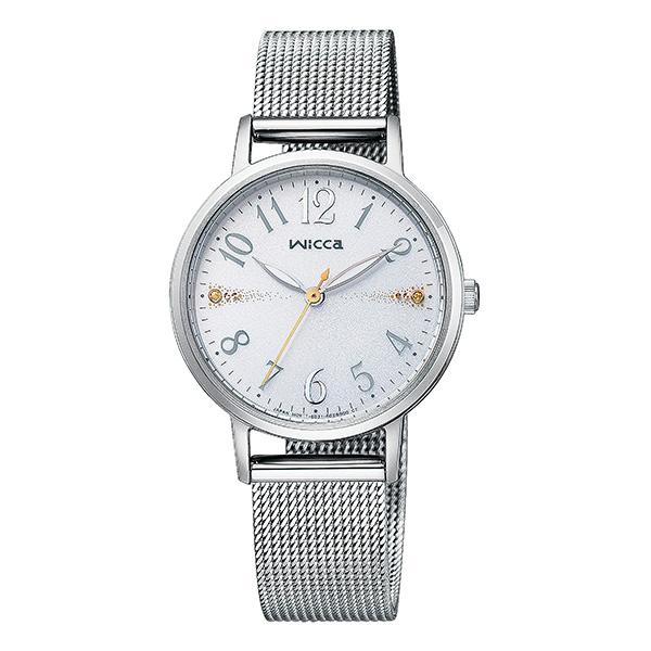 wicca ウィッカ CITIZEN シチズン メッシュベルト ソーラーテック 腕時計 レディース KP5-115-11