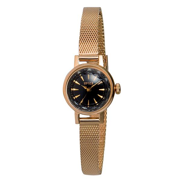 SPICA スピカ カットガラス ピンクゴールド 腕時計 SPI03-PGD/BK_A 【送料無料】