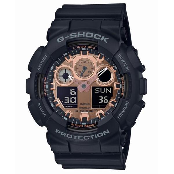 G-SHOCK ジーショック CASIO カシオ ブラック×ローズゴールド 腕時計 GA-100MMC-1AJF 【送料無料】