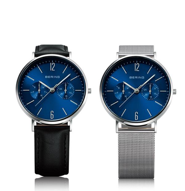 BERING ベーリング Changes Leather & Mesh  TiCTAC別注モデル 替えベルト付き 腕時計 14236-407