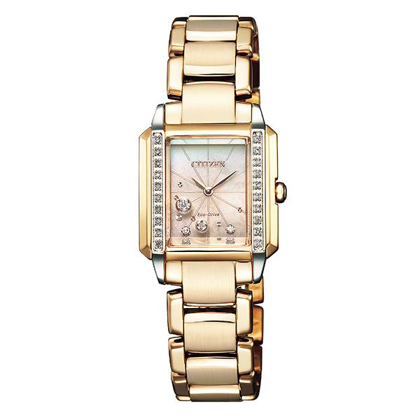 CITIZEN L シチズン エル 腕時計 レディス エコドライブ ダイヤモンド スクエアケース EG7069-81D